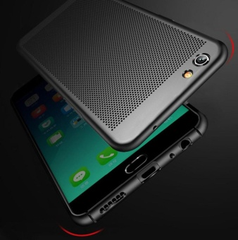f3 plus case qzhi Ultra thin Durable breathing holes Heat TransferHard PC and Soft Metal Paint Phone Case for oppo f3 plus - intl - 2