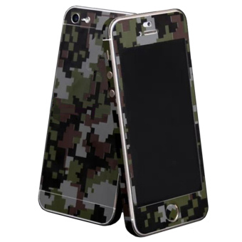 Fashion Camouflage Green Full Body Skin Sticker DIY Front BackCover Film for Apple iPhone 6(s) Plus - 2