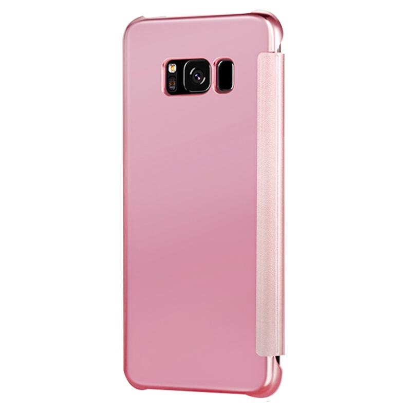 Fashion Clear View Mirror Screen Flip Case Cover For Samsung GalaxyS8 Plus / SM-G9550 ...