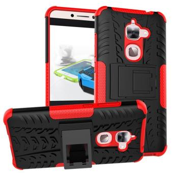 Fashion Heavy Duty Shockproof Dual Layer Hybrid Armor ProtectiveCover with Kickstand Case for Letv Le 2 X622 - intl