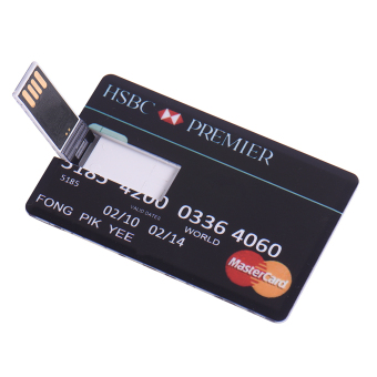 Fast Speed 32GB credit card USB Flash Drive universal disk Pendrive pendrive personalized memory storage Thumb Stick - Intl