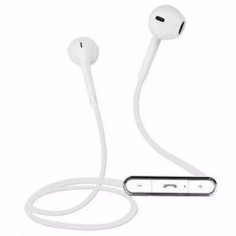 FINE BLUE MATE 7 with Two In-Ear Headphone Stereo Bluetooth Earphone (White)