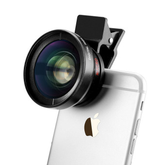Fitzladd Super Digital Camera Lens 0.45x Wide Angle Lens, 12.5xMacro Lens for iPhone 6 / 6s / 6 Plus / 5s, Smart Phone-Black