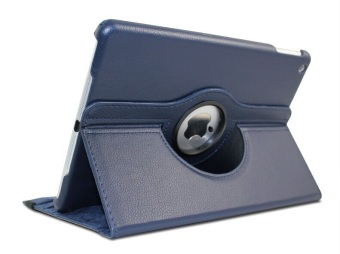 Flip Leather Case 360 Rotate for Apple iPad Air 1 (Blue)