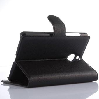 Flip Leather Case Built In Card Slot For Blackberry Passport SilverEdition Black - intl - 3