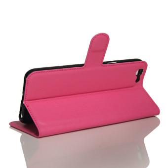 Flip Leather Wallet Case for Oppo F1s (Rose Red) - intl - 4