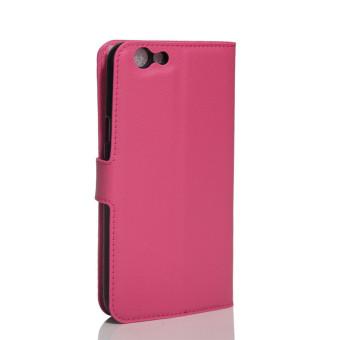Flip Leather Wallet Case for Oppo F1s (Rose Red) - intl - 2