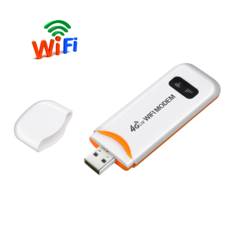 FLORA 4G FDD LTE 100Mbps WiFi Router Hotspot USB WIFI DongleWireless Router Support 4G Band1/Band3(White) - intl - 2