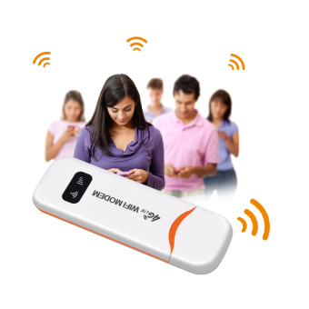 FLORA 4G FDD LTE 100Mbps WiFi Router Hotspot USB WIFI DongleWireless Router Support 4G Band1/Band3(White) - intl - 5