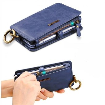 floveme Wallet Pouch Case with Card Slot For Apple iPhone 7 Plus(Blue) - 3