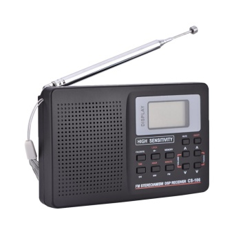 FM/AM/SW/LW/TV Sound Full Band Receiver Receiving Radio Alarm Clock Type 2 - intl - 3
