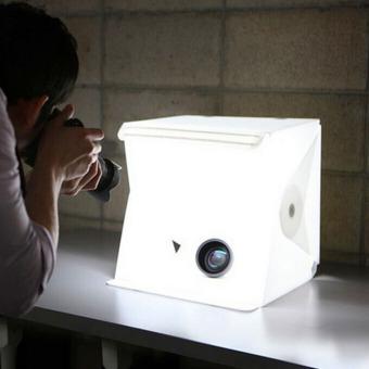 Folding Photo studio Shooting Tent with LED Light Room Photo Studio Photography Lighting Tent Backdrop Cube Box Mini Stand Portable - 2