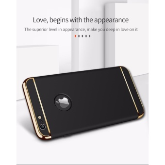For Apple iphone 6 plus/6S plus 3 In 1 Hard PC + Acrylic Luxury Anti-knock Armor Ultra Slim Metal Hard Back Case Cover 5.5inch - intl - 2