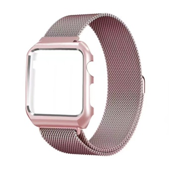 For Apple Watch 38mm Stainless Steel Magnetic Replacement WristBand With Case - intl - 3