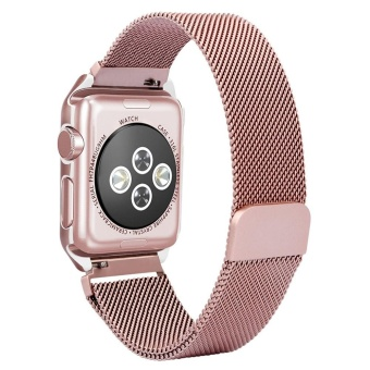 For Apple Watch 38mm Stainless Steel Magnetic Replacement WristBand With Case - intl - 4