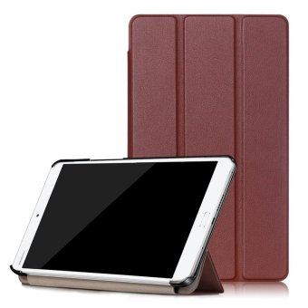 For Huawei MediaPad M3 8.4 inch Standing Tri-Fold Leather TabletCase Cover - Brown - intl