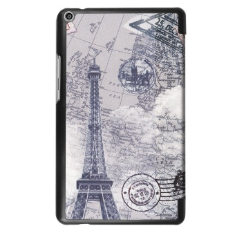 For Huawei Mediapad T3 8.0 Ultra Slim Tri-Fold PU Leather TabletCase Cover (Eiffel Tower) - intl - 3