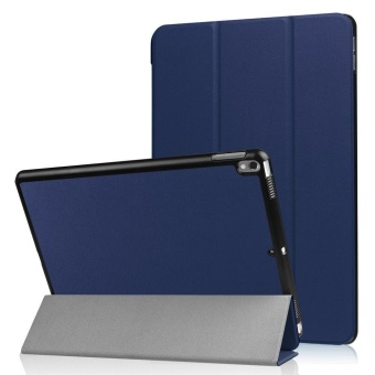 For iPad Pro 10.5 2017 Sleeve Case,Slim PU Snap On Slim-Fit Case for Apple iPad Pro 10.5 Tablet Case,Dark blue - intl