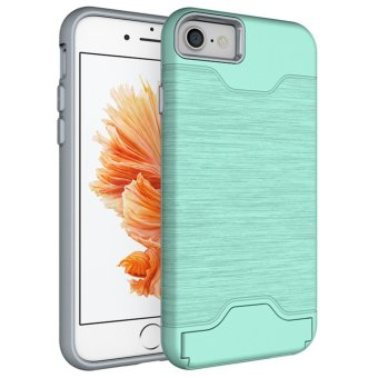 For iPhone6 Case 4.7 inch Shockproof Case Phone Shell+ProtectionFrame(2 in 1) Protective Sleeve For iPhone 6 s with Holder - intl