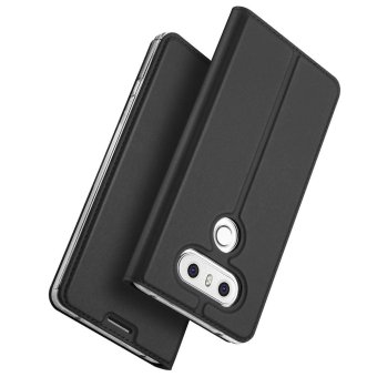 For LG G6 Book Design Flip Leather Case Cover (Grey) - intl - 2