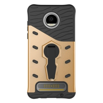 For Motorola Moto C Case TPU & PC Armor Bag Holder Book Cover For Motorola Moto C with Kickstand Heavy Duty Armor Phone Case - intl - 3