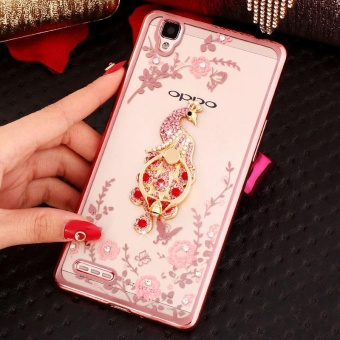 For OPPO R7 Lite Soft Phone Casing Shockproof Phone Case CoverPhonecase With Ring Holder - intl