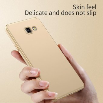 For Samsung Galaxy A7 (2016) A710 Full Body Hard PC Smooth Grip Back Case Cover (Golden) - intl - 3