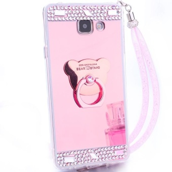 For Samsung Galaxy A7 2017 A720 Casing Fashion Phone Case Mirror Phone Cover With Ring Holder - intl - 5