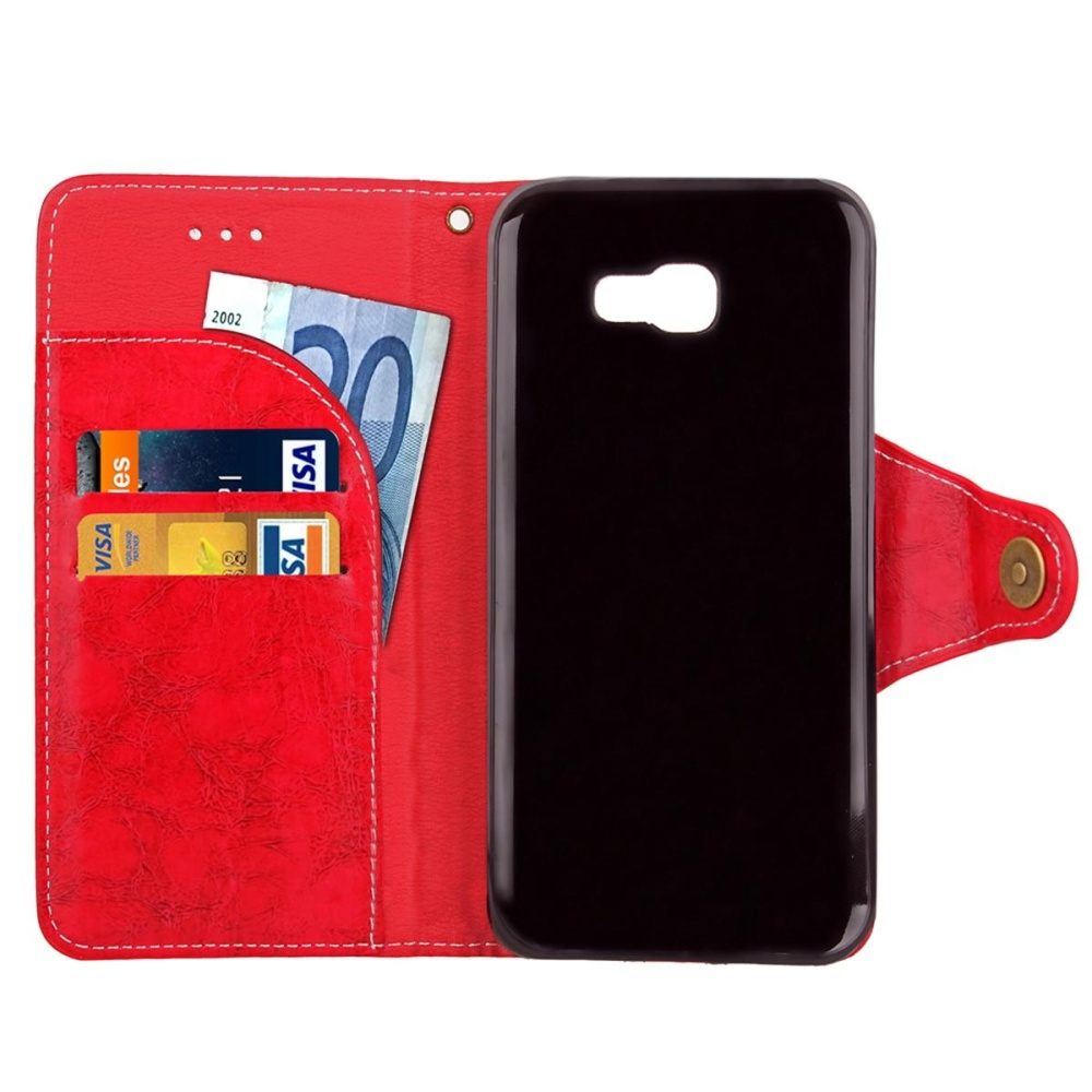 For Samsung Galaxy A7 2017 A720 Leather Wallet Case Flip StandFull Body Cover .
