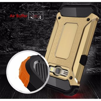 for Samsung Galaxy J1(2016) & J120 [Steel Armor] 2in1 CarbonFibre Premium Soft TPU + Hard PC Hybrid Back Cover Cell Phone ArmorCase Shockproof - intl - 2