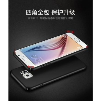 For Samsung Galaxy S6 360 degrees Ultra-thin PC Hard shell phonecase/Red - intl - 2