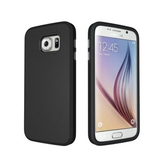 For Samsung Galaxy S6 G9200 Ultra Slim Anti-Slip Shockproof PhoneBack Case Cover (Black) - intl - 5