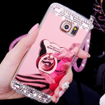For Samsung Galaxy S7 Edge Phone Case Mirror Casing Lady Phone Cover - intl