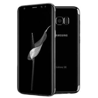 For Samsung Galaxy S8 Clear Soft Tpu Phone Case with Fing RingHolde with Anti Blue-Ray Eye Protect Full Cover Tempered Glass /Plating Crystal Transparent Shockproof Phone Cover Silicone PhoneShell for Samsung Galaxy S8 - intl - 3