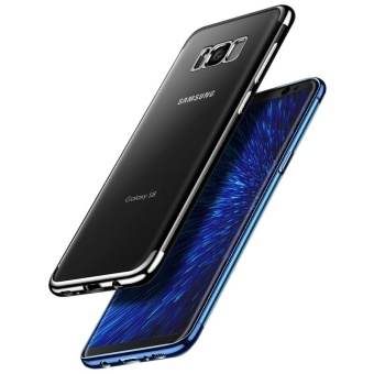 For Samsung Galaxy S8 Clear Soft Tpu Phone Case with Fing RingHolde with Anti Blue-Ray Eye Protect Full Cover Tempered Glass /Plating Crystal Transparent Shockproof Phone Cover Silicone PhoneShell for Samsung Galaxy S8 - intl - 5