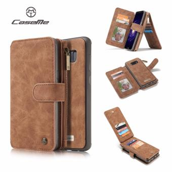 For Samsung Galaxy S8 Plus Vintage Flip leather wallet Magnetic phone case For galaxy s8 plus cover Case card slots - intl