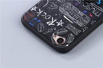 For VIVO Y66 / V5 Lite Case Cover New Hot Sell Fashion Ultra-thin3D Stereo Relief Colorful Painting Soft Back Covers/Anti fallingPhone Cover/Shockproof Phone case With Metal Ring and Phone Rope(DUIZHANG) - intl - 3