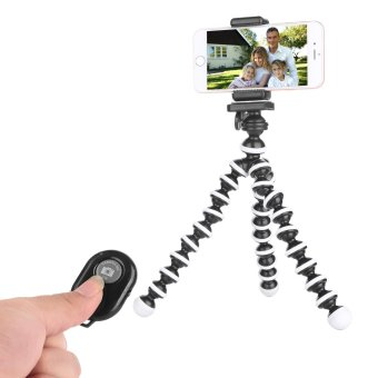 Fosoto Tripod for iPhone - Cell Phone Tripod - iPhone Tripod withRemote - Camera Tripod Compatible with Any Smartphone FlexibleTripod Stand(Black White) (Tri-Pod) - intl
