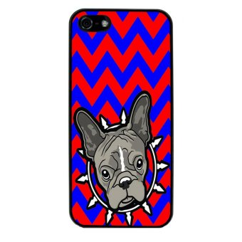 French Bulldog Chevron Pattern Phone Case for iPhone 5C (Black) product preview, discount at cheapest price