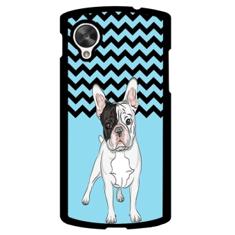 French Bulldog Chevron Pattern Phone Case for LG Nexus 5 (Green) - picture 2