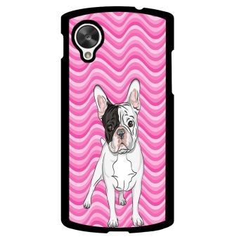 French Bulldog Chevron Pattern Phone Case for LG Nexus 5 (Pink) - picture 2