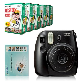 Philippines | Fujifilm Instax Mini 8 Instant Camera (Black) + Fuji White EdgeInstant 100 Film + Hanging Wall Album Search Compare