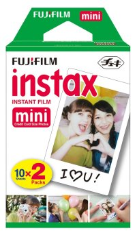 Fujifilm Instax Mini Glossy Twin Pack Instant Film (White)