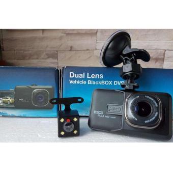 Full HD Dual Lens Car DVR Dash Camera (Black) - 5
