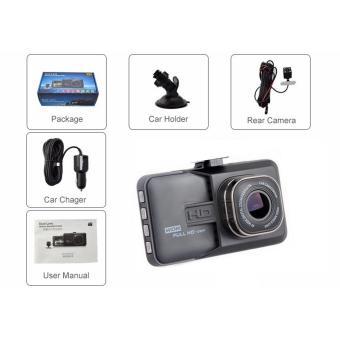 Full HD Dual Lens Car DVR Dash Camera (Black) - 3