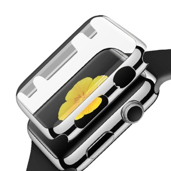 Fully Coverage Watch Screen Protector Shell PC PlatingAbrasion-resistant Anti-scratch Protective Cover with Bumper forApple Watch iWatch Series 2 42mm Silver - intl