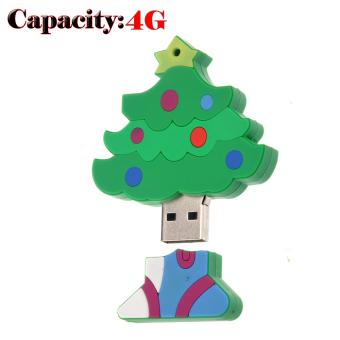 Funny Mini Christmas Tree Shaped 4GB USB 2.0 Flash Drive
