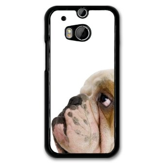 Funny Puppy Pattern Phone Case for HTC ONE M8 (Black)