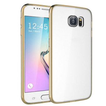 samsung galaxy s6 gold. fusion bumper with clear back case for samsung galaxy s6 (gold) gold
