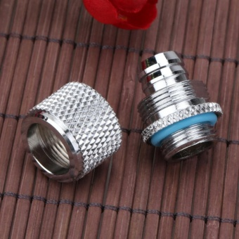 G1/4 External Fitting Thread for 9.5 X 12.7 mm PC Water CoolingSystem Tube(Silver)-Point - intl - 3
